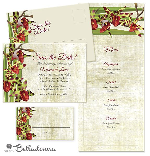 Romance Tiger Orchid TIGER-ORCHID-1 Suite 1 Standard - format for invitation