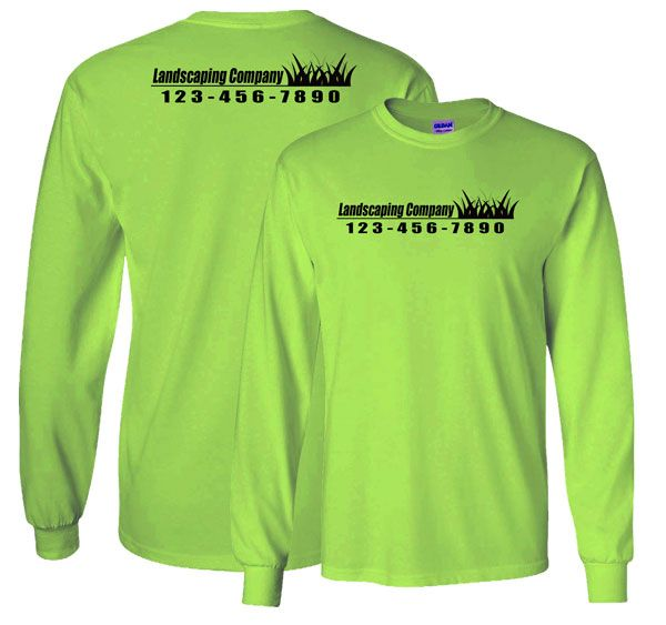 lawn care service work shirt