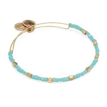 Alex and Ani Sea Glass Odyssey Beaded Bangle - Rafaelian Gold Finish - Item 19545581 | REEDS Jewelers