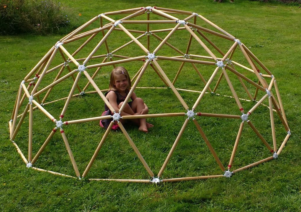 Weekend Project Hubs Geodesic Dome Kits Now Ready To Buy Solidsmack Geodesic Dome Kit Geodesic Dome Geodesic