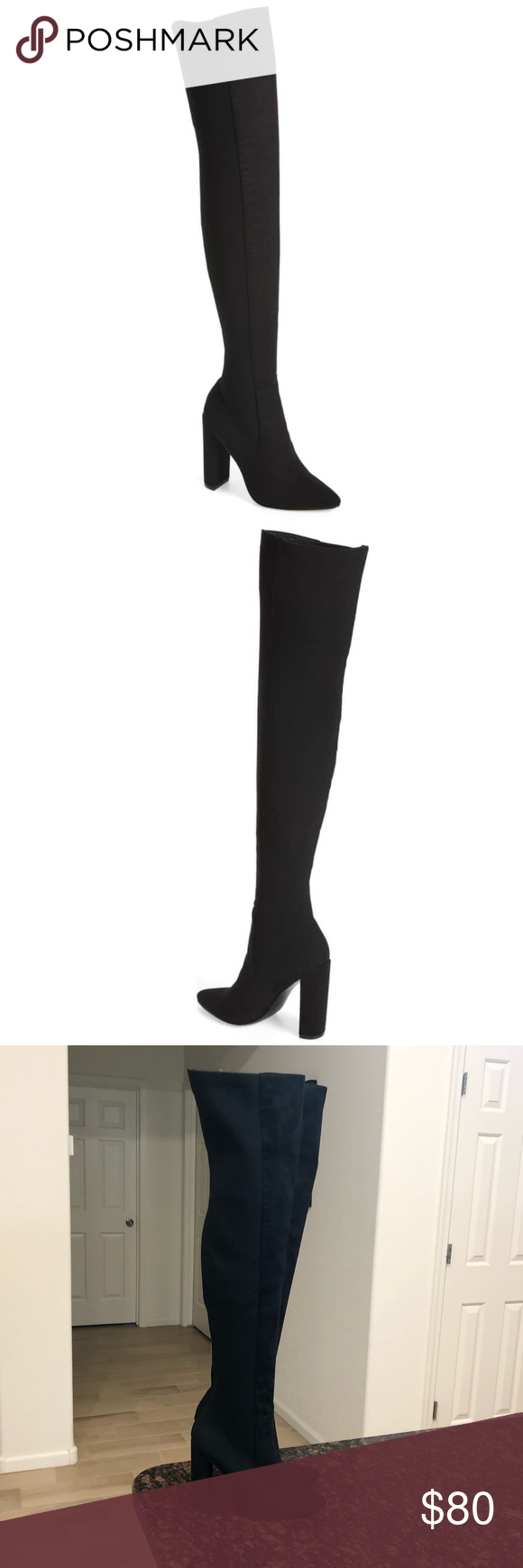 1065bdf3d59 Steve Madden Essence Stretch Over the Knee Boots Steve Madden Essence  Stretch Over the Knee Boots. Size 8. Like new! Details in last photo.