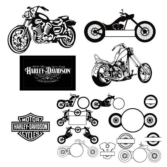 Motorcycle svg Harley Davidson svg Decal svg files Harley