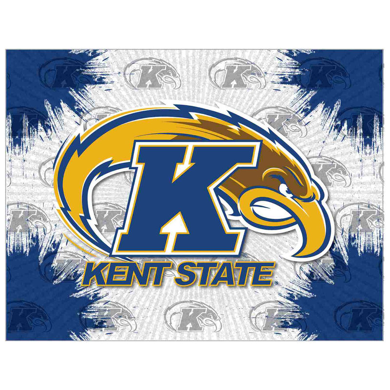 """Kent State Golden Flashes 24"""" x 32"""" Printed Canvas Art in"""