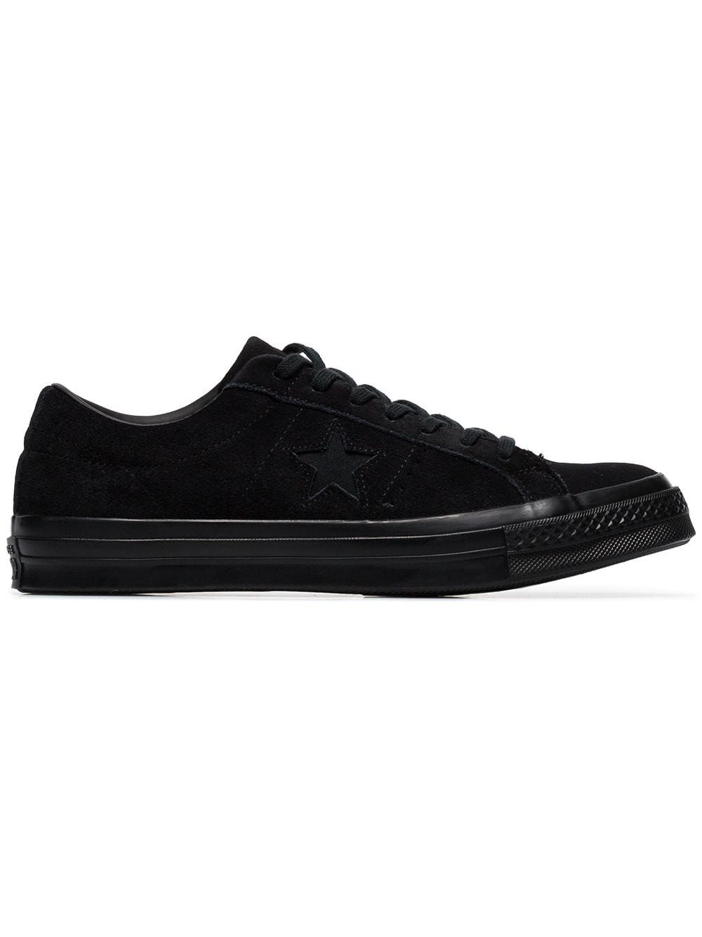 d12a9109123 CONVERSE Converse Black One Star Suede Sneakers - Farfetch.  converse  shoes