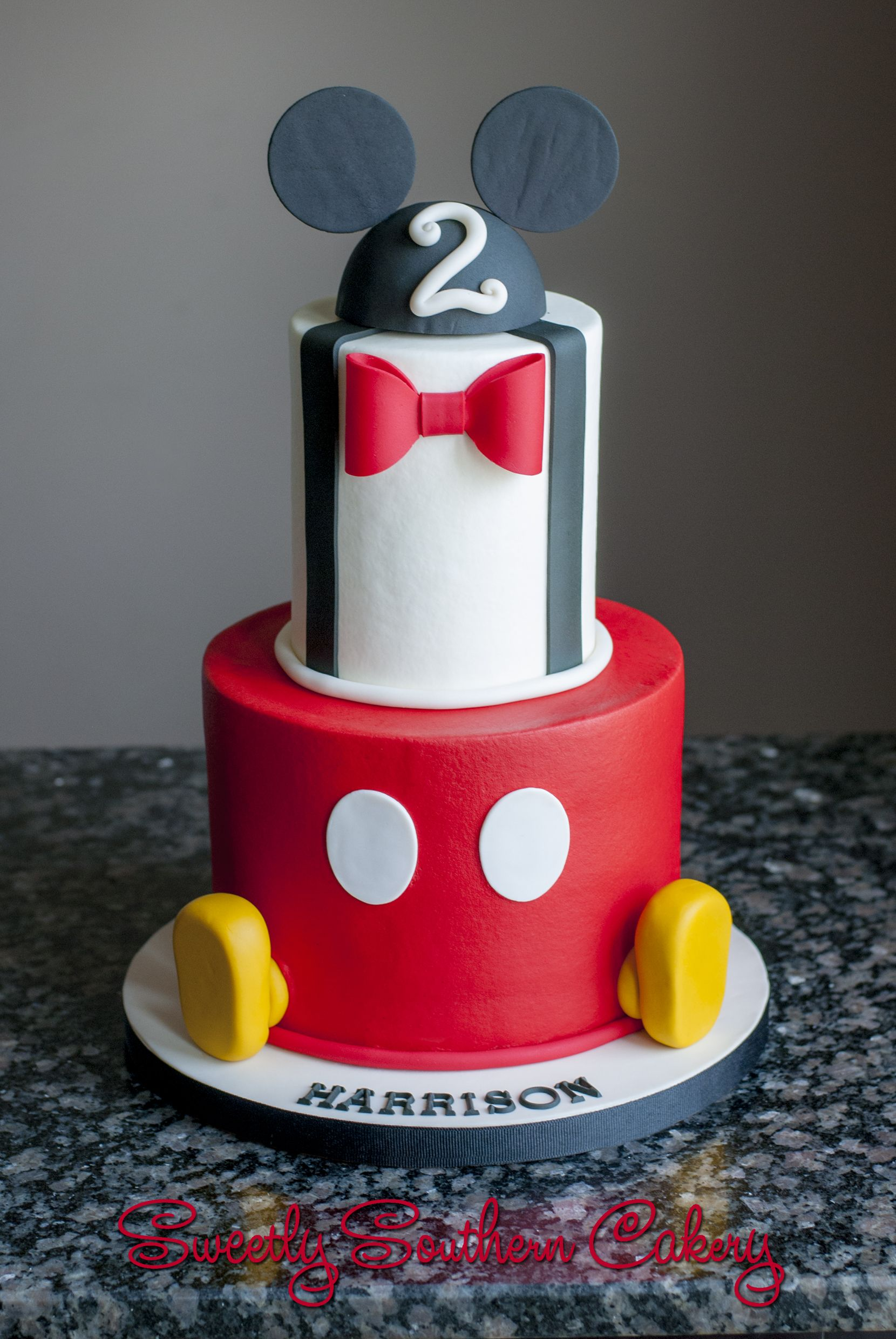 Mickey Mouse Birthday Cake Sweetly Southern Cakes 2016 In 2018
