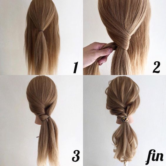24 Wonderful And Easy Ponytail Hairstyles Tutorials - #Easy #Hairstyles #ponytai... - Daniel Allure Hair styles Blog