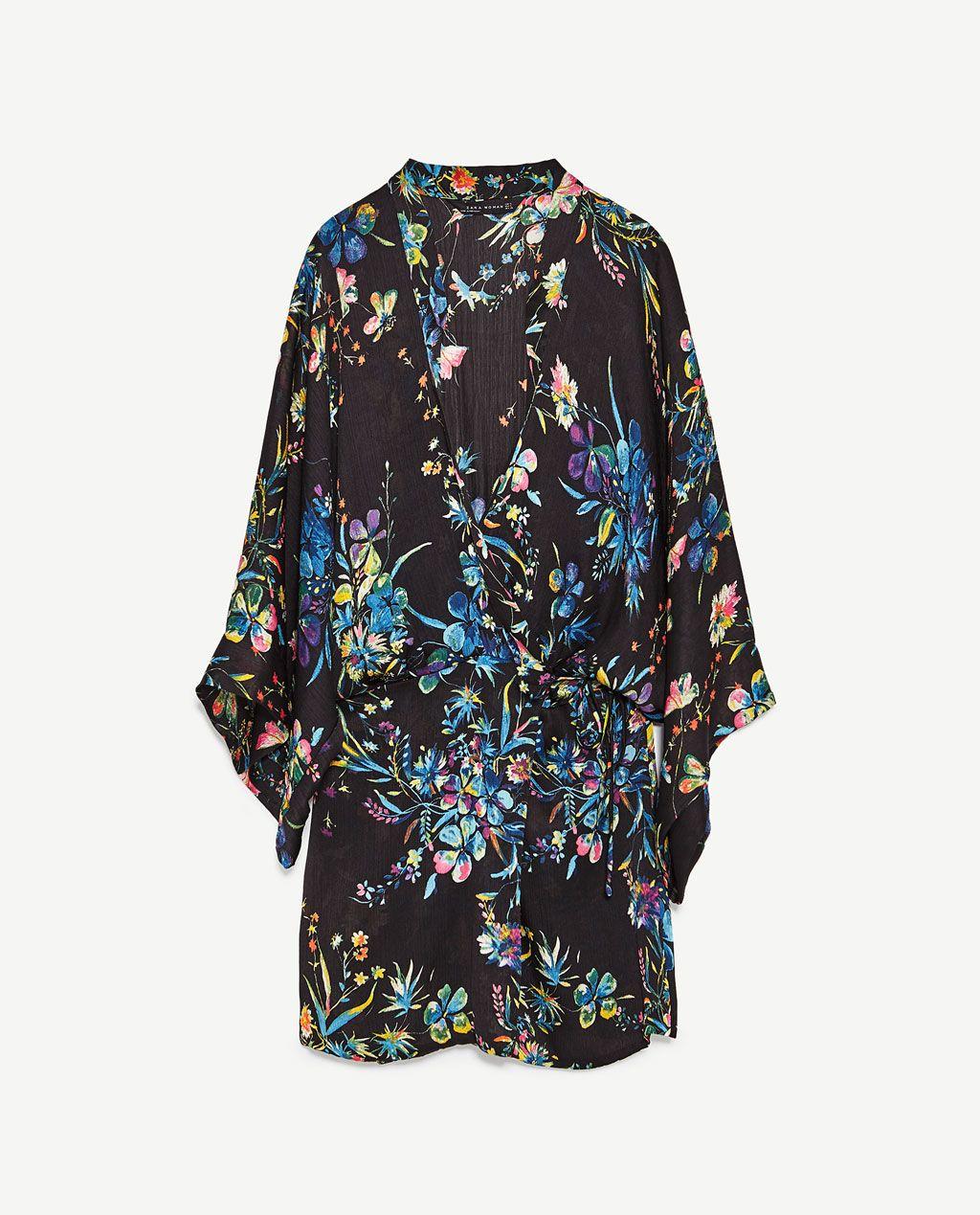 Dresses Blomstret Floral Zara Fashon 8 Billede Af Kimono Fra g0E6TCCqw