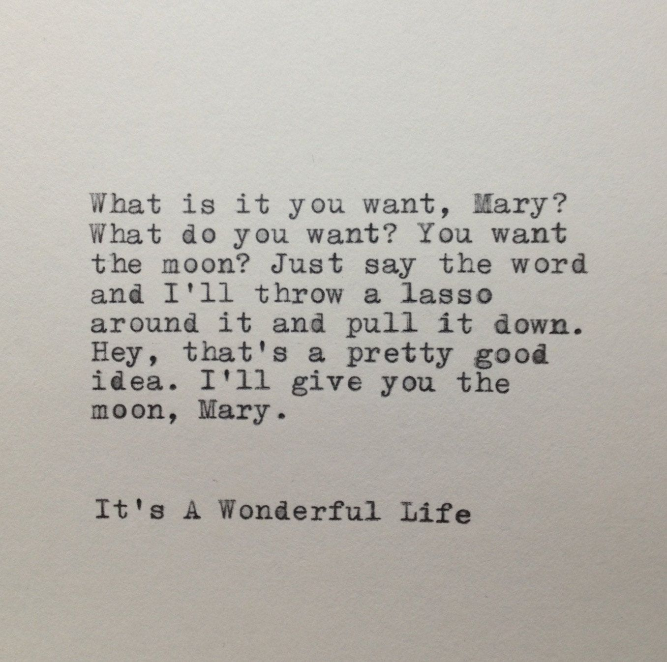 It S A Wonderful Life Quote Typed On Typewriter Etsy In 2021 Wonderful Life Quotes Life Quotes Inspirational Quotes