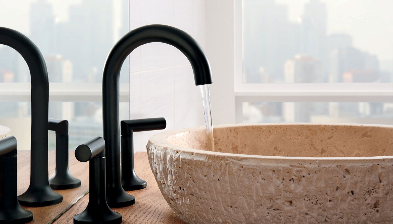 beautiful matte black faucet