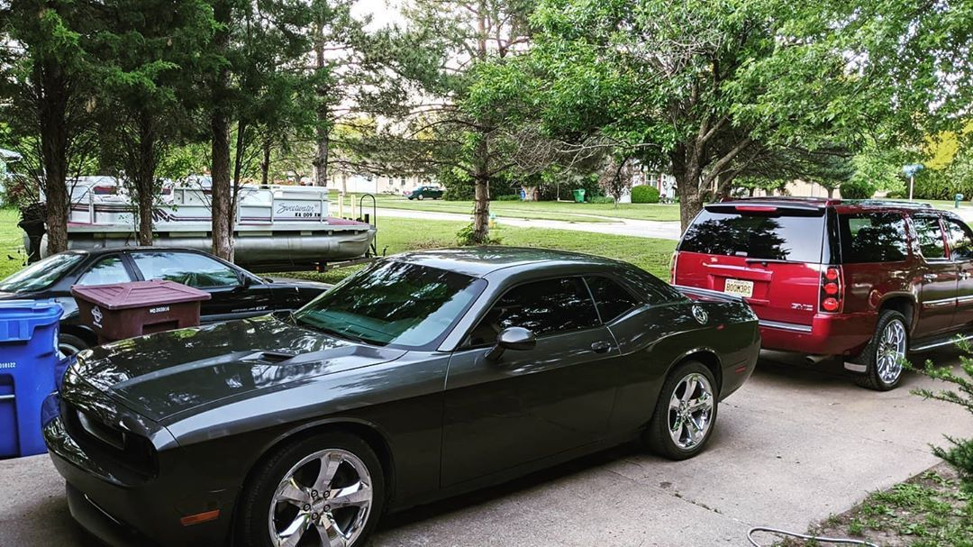 When my other babies are all cleaned up! Yes my tag says BOOM3RS! #challenger #gmcdenali #toys #blessed