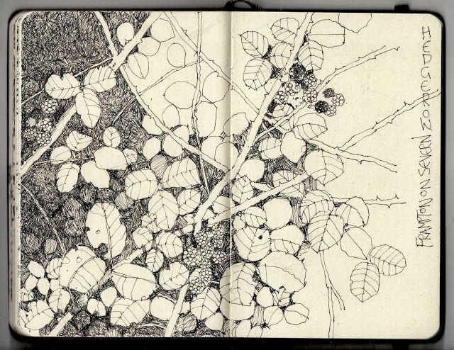 Libretas De Dibujo De Un Artista Freelance: Ian Sidaway Fine Line: Frampton On Severn