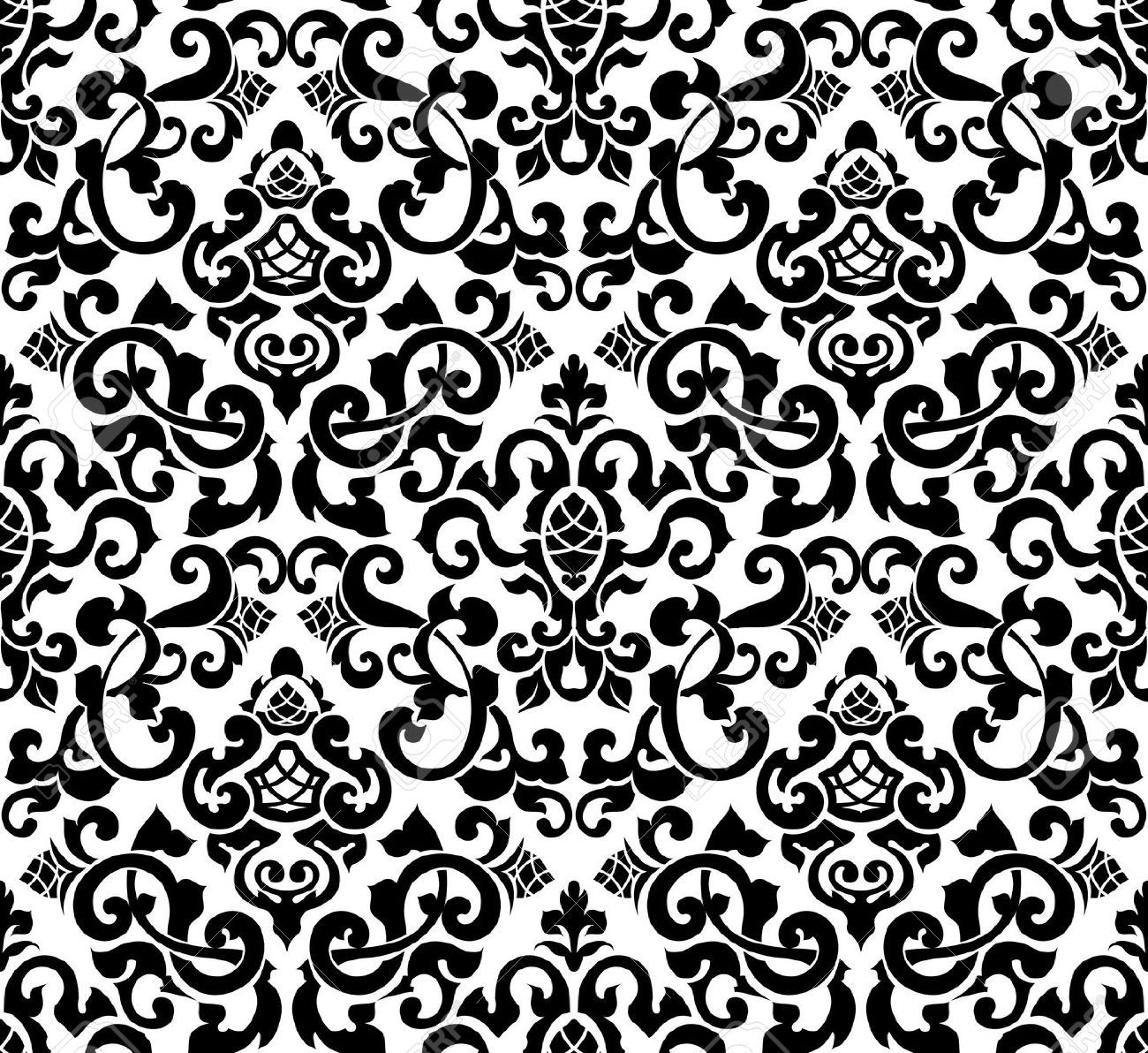 17148771-Black-seamless-pattern-silhouette-Stock-Vector ...