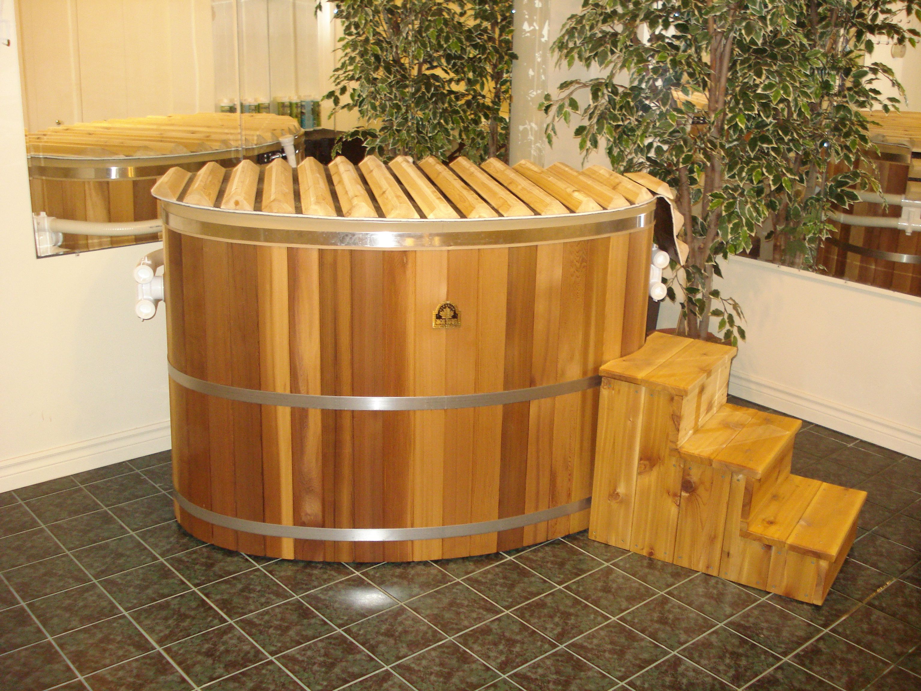 The tub for 2 is our smallest cedar hot tub ideal for for Balcony hot tub