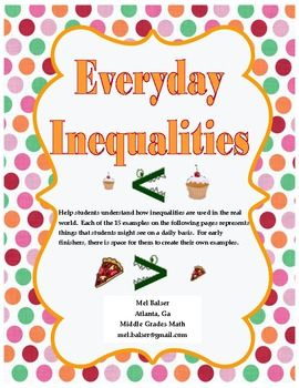 Everyday Inequalities Inequality Education Math Teaching Math