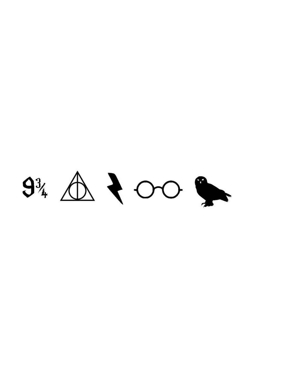 Harry Potter Vinyl Nail Decals by TheFoxandOwlCreation on Etsy ...