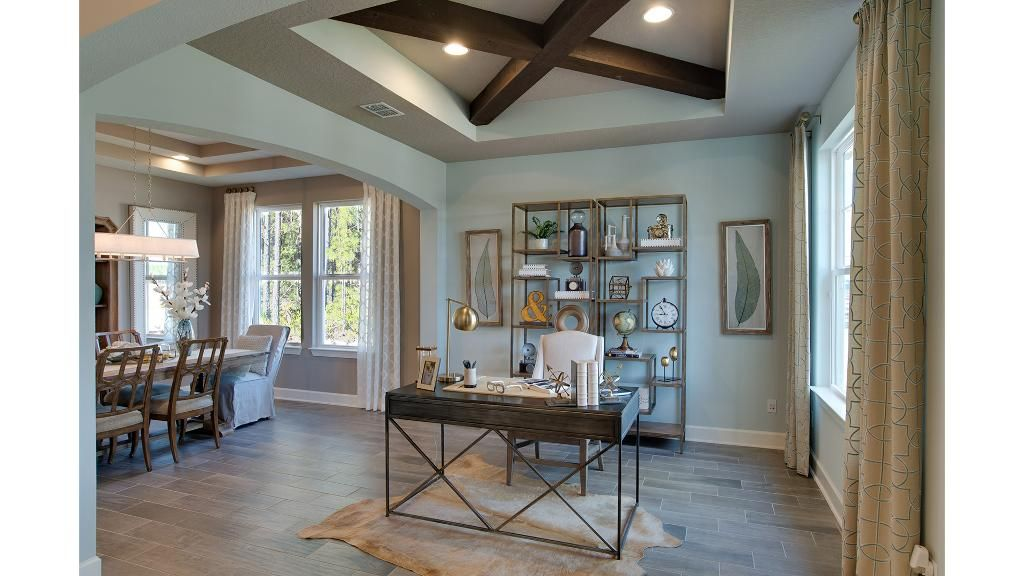 Study With Beam Ceiling The San Pablo Floor Plan Drees Homes