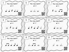 Music Task Cards: Rhythm Set 2 | Ének-zene | Zene