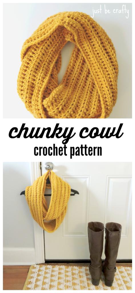 Chunky Crochet Cowl Pattern - Free Pattern by   Casa hogar, Tejido y ...