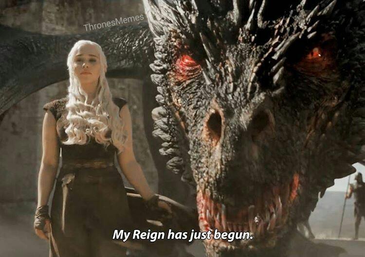 Game Of Thrones Meme Thrones Memes Twitter Drogon Game Of Thrones Mother Of Dragons Daenerys Targaryen