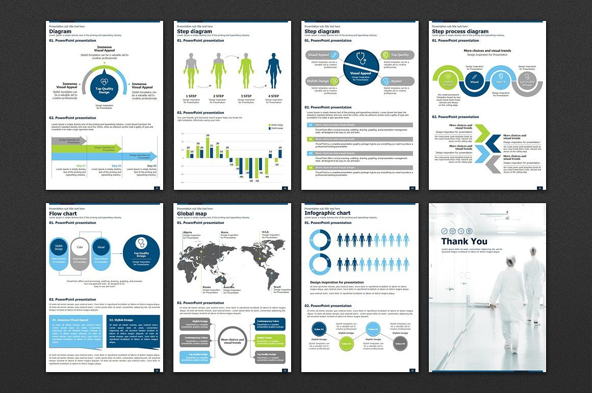 Medical PPT Vertical Template findtextsreportpreparing