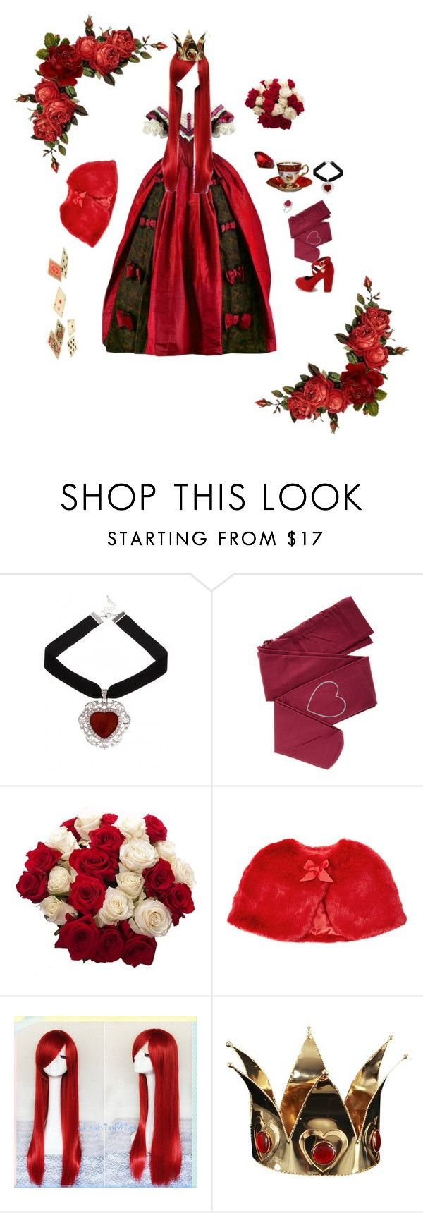 Queen of Hearts by chocolateandnapalm on Polyvore featuring moda, ZOHARA, Buy Seasons, Monsoon and aliceinwonderland