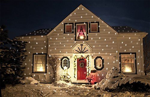 Beautiful Outdoor or Indoor moving Snowflake Light proyector for Christmas.  Project it against your home for an amazing Christmas feel. - Pin By Lori Miller On Christmas Decorating Pinterest Christmas