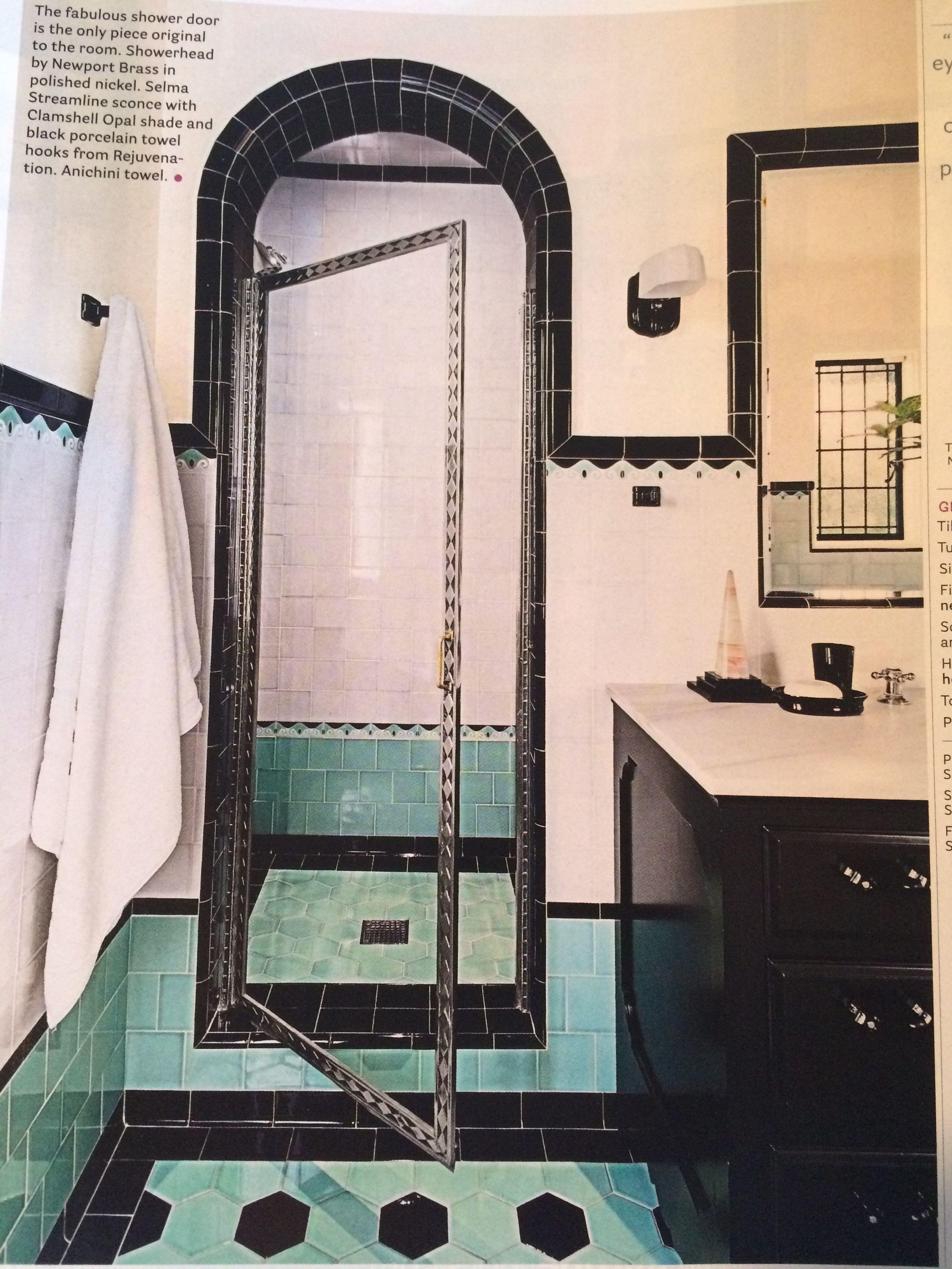 Modernes badezimmerdekor 2018 shower head newport brass in polished nickel hooks rejuvenation