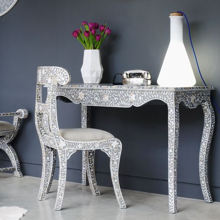 Mother Of Pearl Inlay Furniture | Grey+and+Mother+of+Pearl+