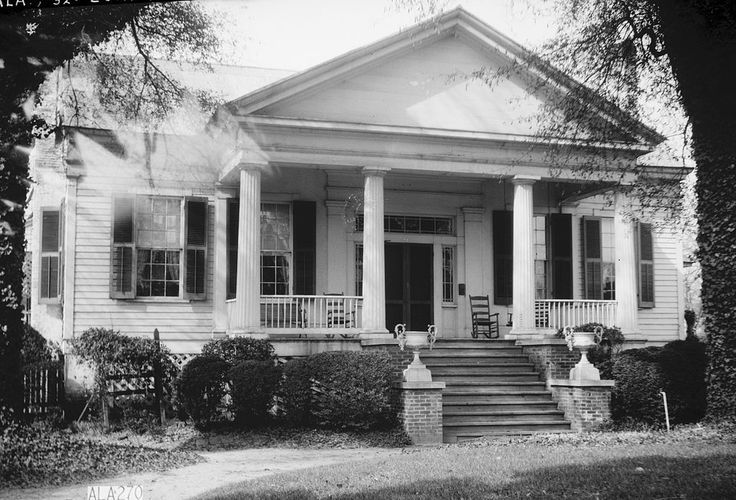 one story greek revival house plans google search