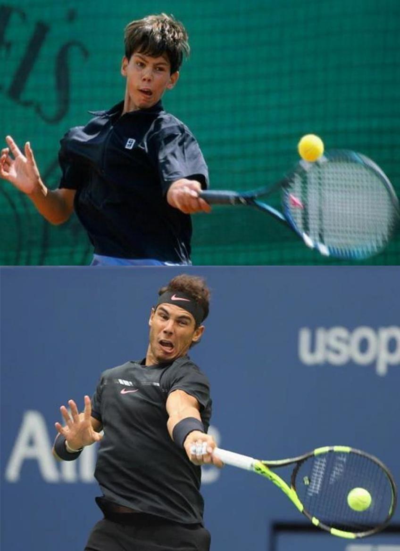 Rafael Nadal 2002 Vs 2019 Rafael Nadal Tennis Funny Tennis Workout