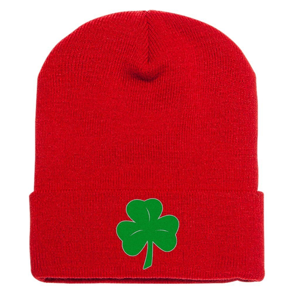 Shamrock Embroidered Knit Cap
