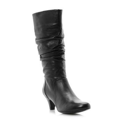 Black 'reta' rouched detail leather