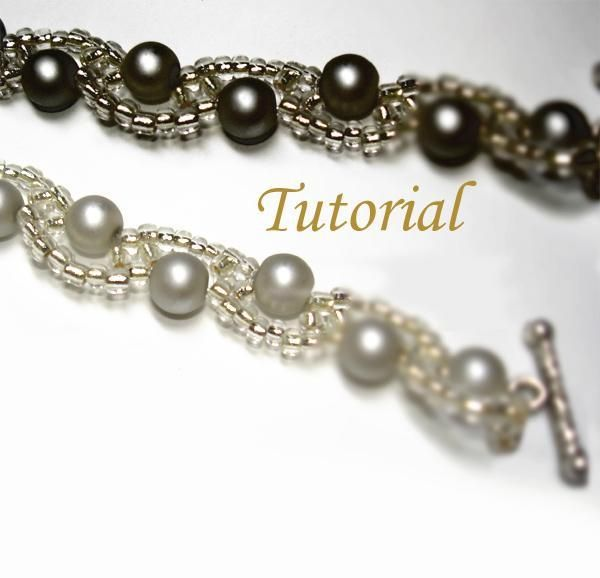 beaded barely wavy bracelet tutorial - Beaded Bracelet Design Ideas