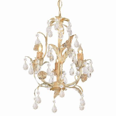Crystorama Athena 3 Light Mini Candle Chandelier | Wayfair
