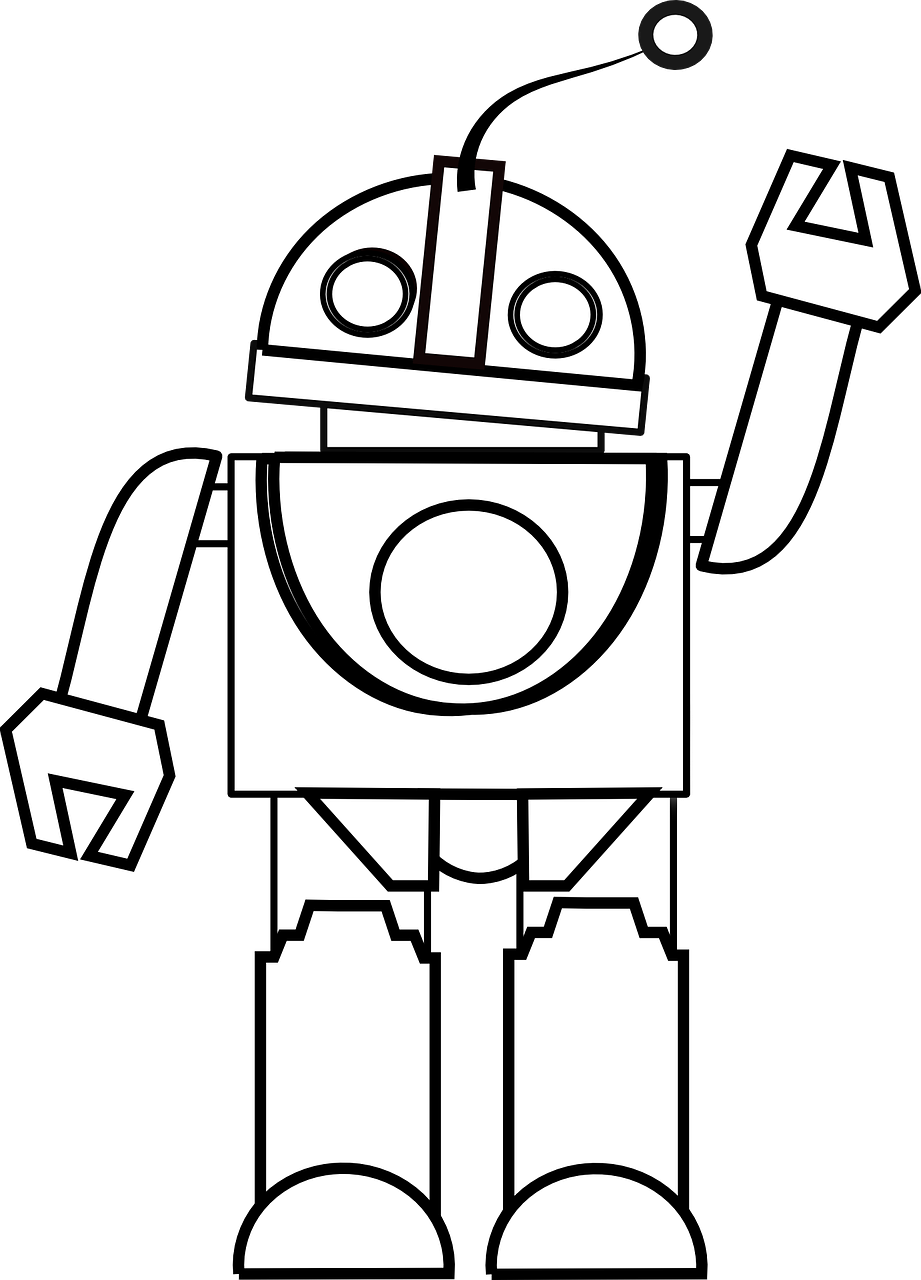 Free Image On Pixabay Robot Machine Technology Clipart Black And White Clip Art Zoo Coloring Pages