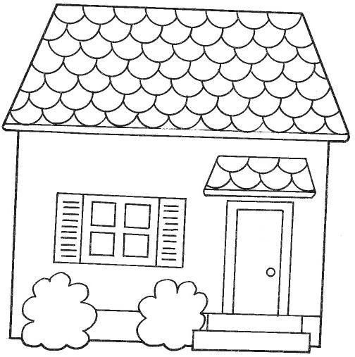 Resultado de imagen de dibujos de fachadas de casas para colorear ...