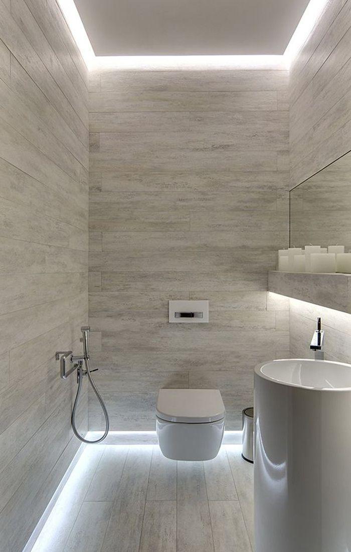 Мы собрали для вас примеров стильных туалетов часть из которых - Kleines bad bis zur decke fliesen