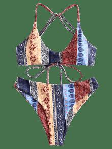 620d84bfcbea7f [30% OFF] [HOT] 2019 ZAFUL Floral Paisley Strappy Bikini Set In MULTI-A M |  ZAFUL