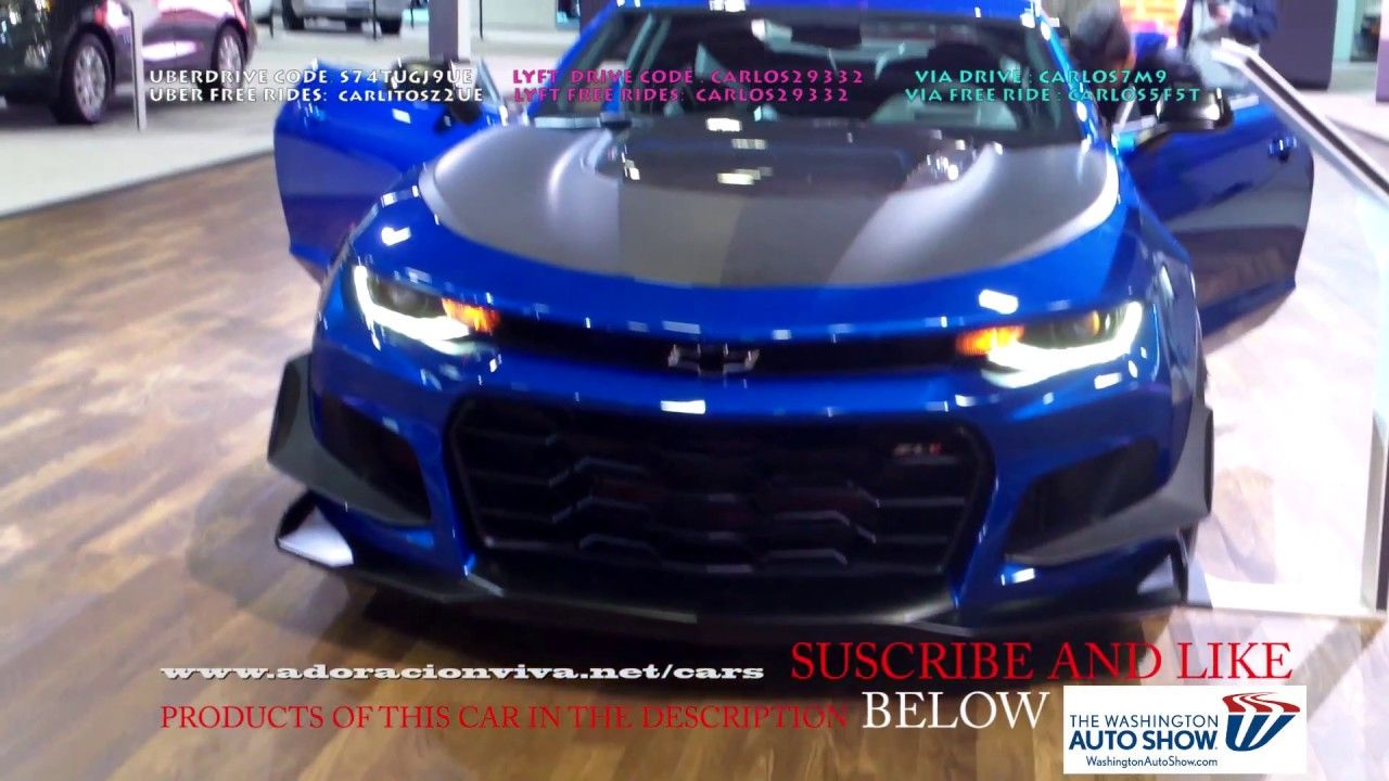 2019 Chevy Camaro Zl1 2lt Ss Blue Washington Dc Auto Show 2018