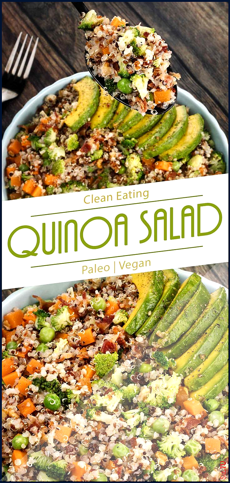 This vegan quinoa salad recipe is healthy super easy and yet delicious a perfect side dish This ve