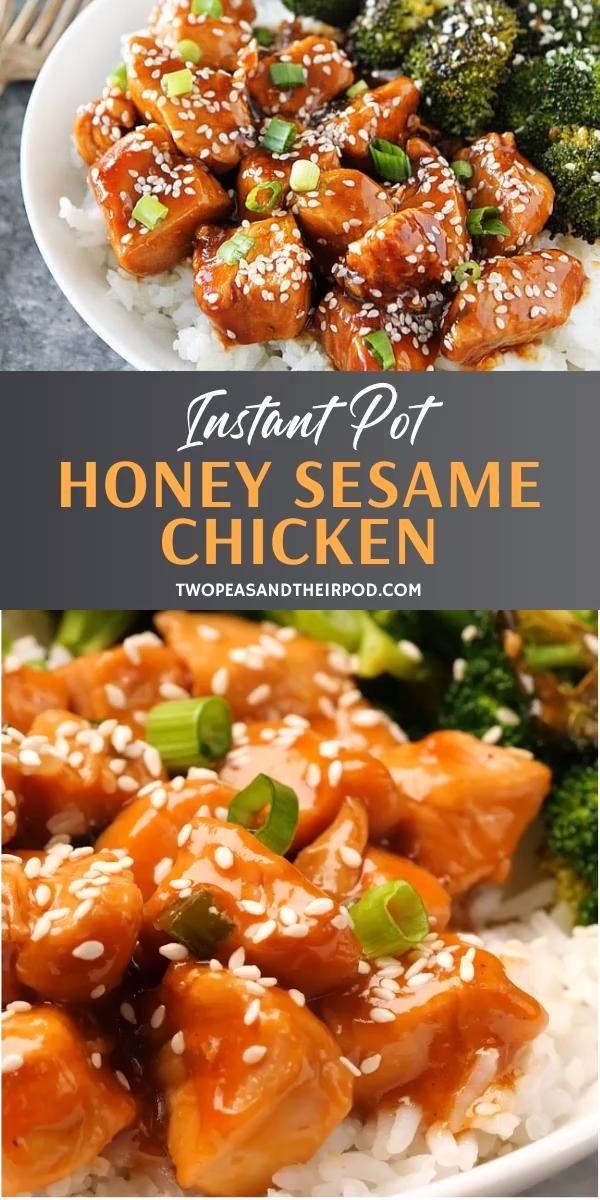 Honey Sesame Chicken {Instant Pot}