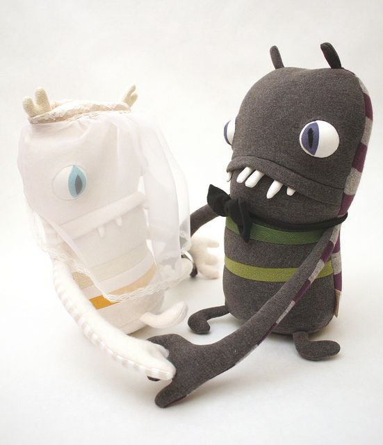 wedding monsters by cotton monster