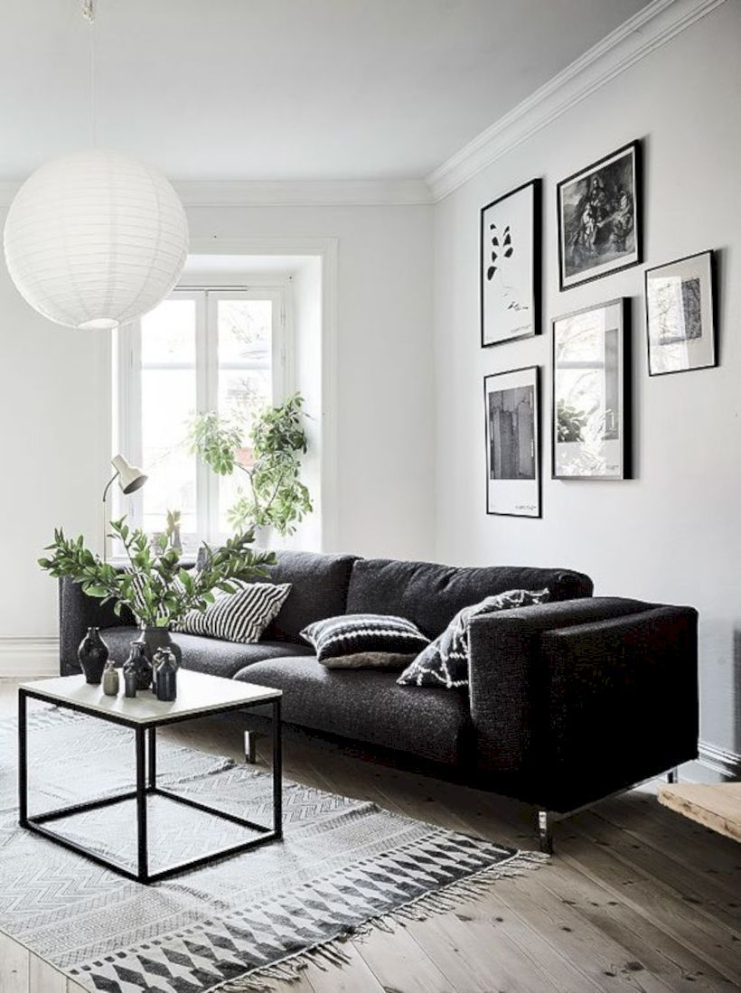 Amazing 59 Black And White Living Room Decor With Minima