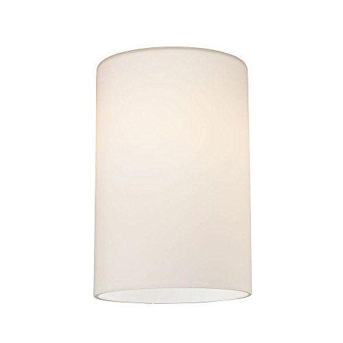 Satin White Cylinder Gl Shade Lipless With 1 5 8 Inc Bathroom Light