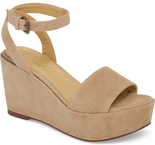 69c7a47d263f Splendid Felix Platform Wedge Sandal in Beige. A chunky platform and wedge  underscore the  70s-inspired style of a soft suede sandal secured by a slim  ...