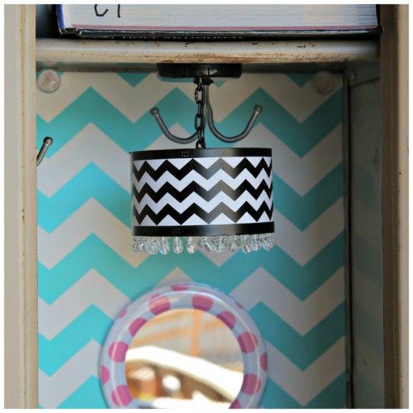 Locker Wallpaper Diy: Modern Chevron Lamp For Your Locker