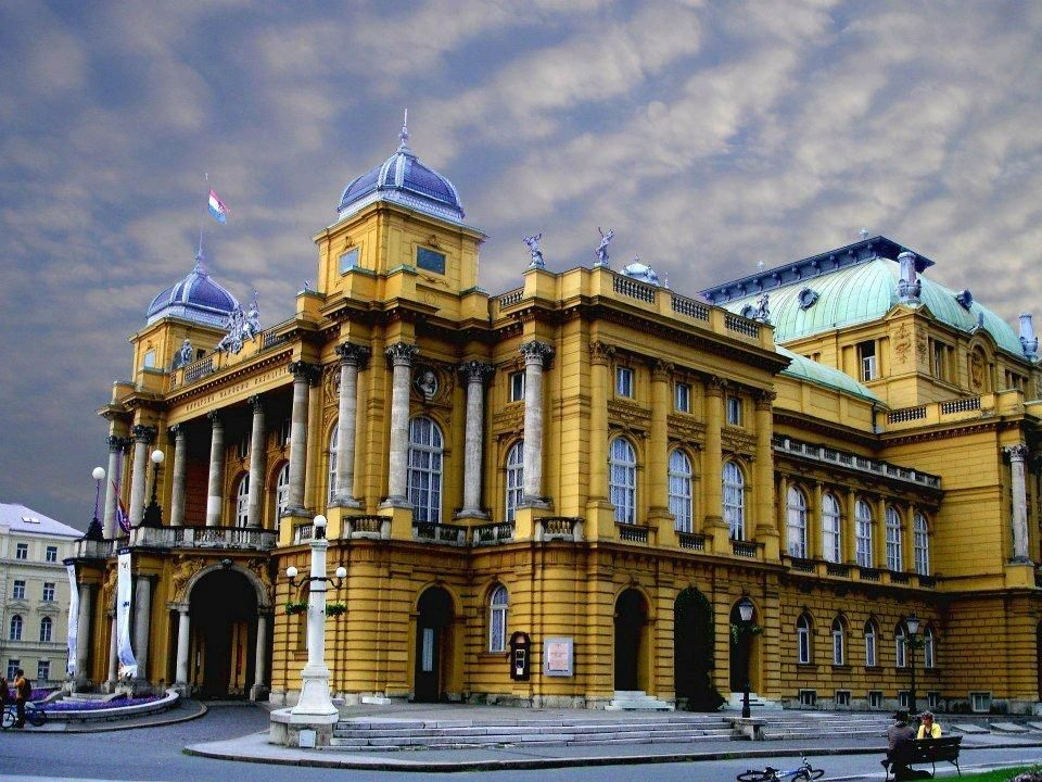 Zagreb Croatia The Monumental Croatian National Theater Building In The Middle Of Marsal Tito Square Was Erected In 1895 Accor Zagreb Croatia Croatia Zagreb