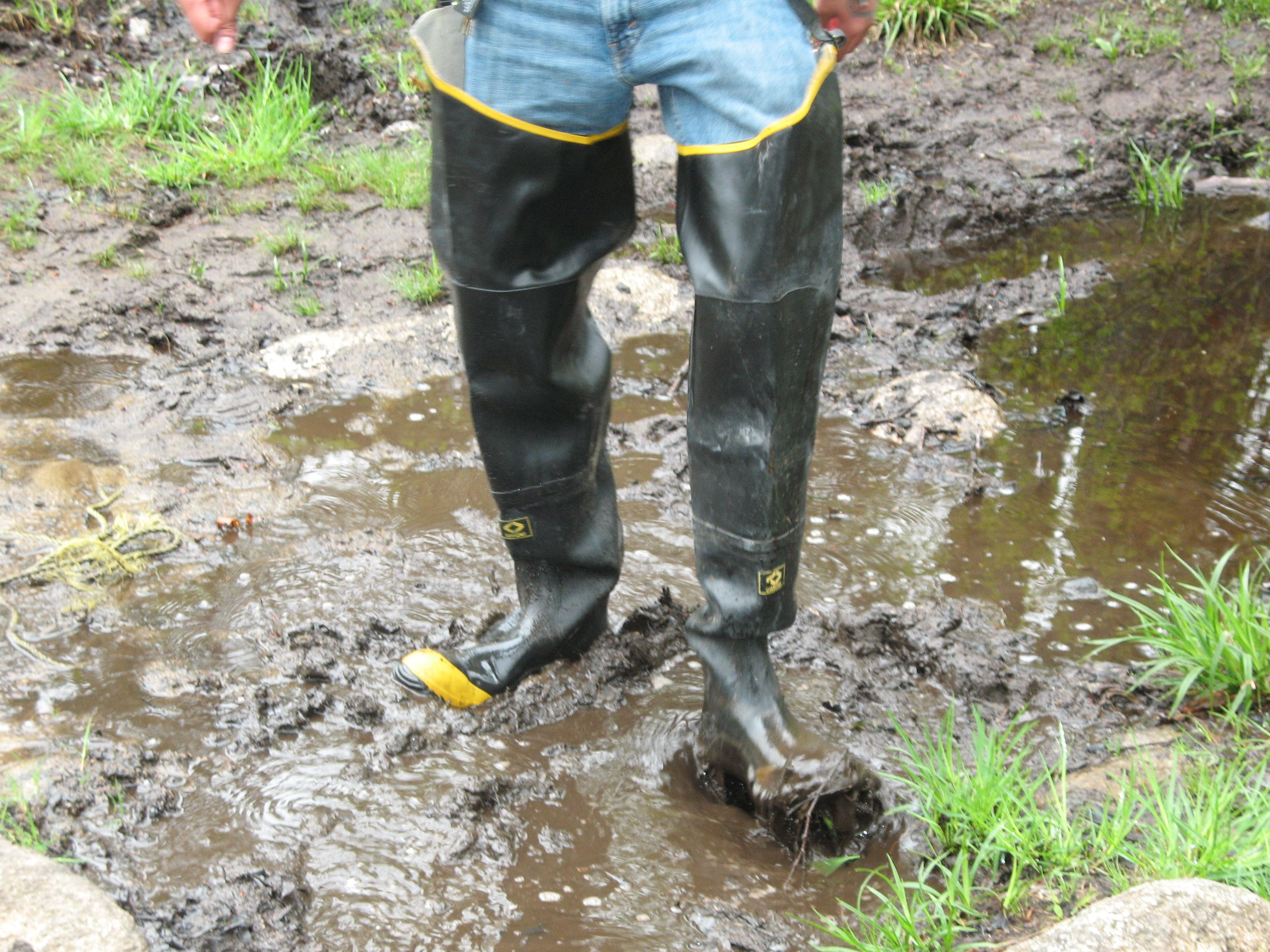 Hip Boots On A Muddy Day Courtesy Of Bill B Firefighter Boots