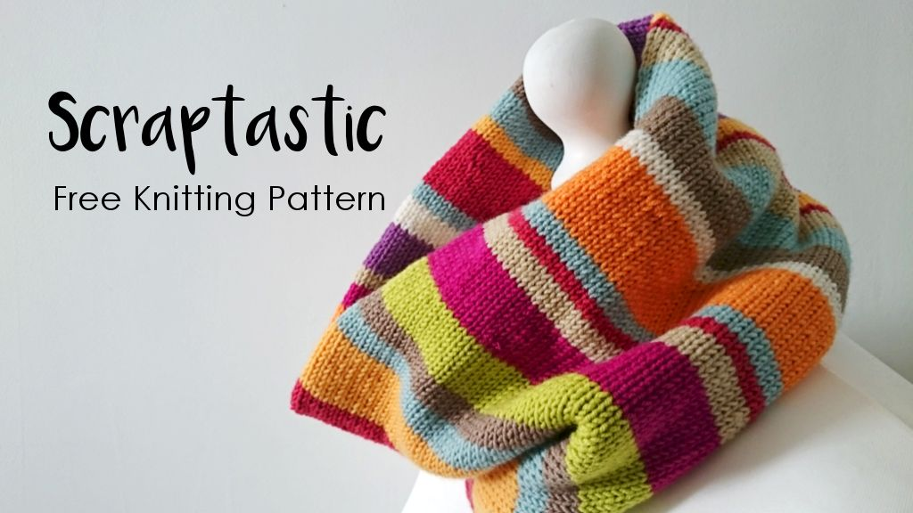 Scraptastic Is A Free Cowl Knitting Pattern Using Dk Weight Merino