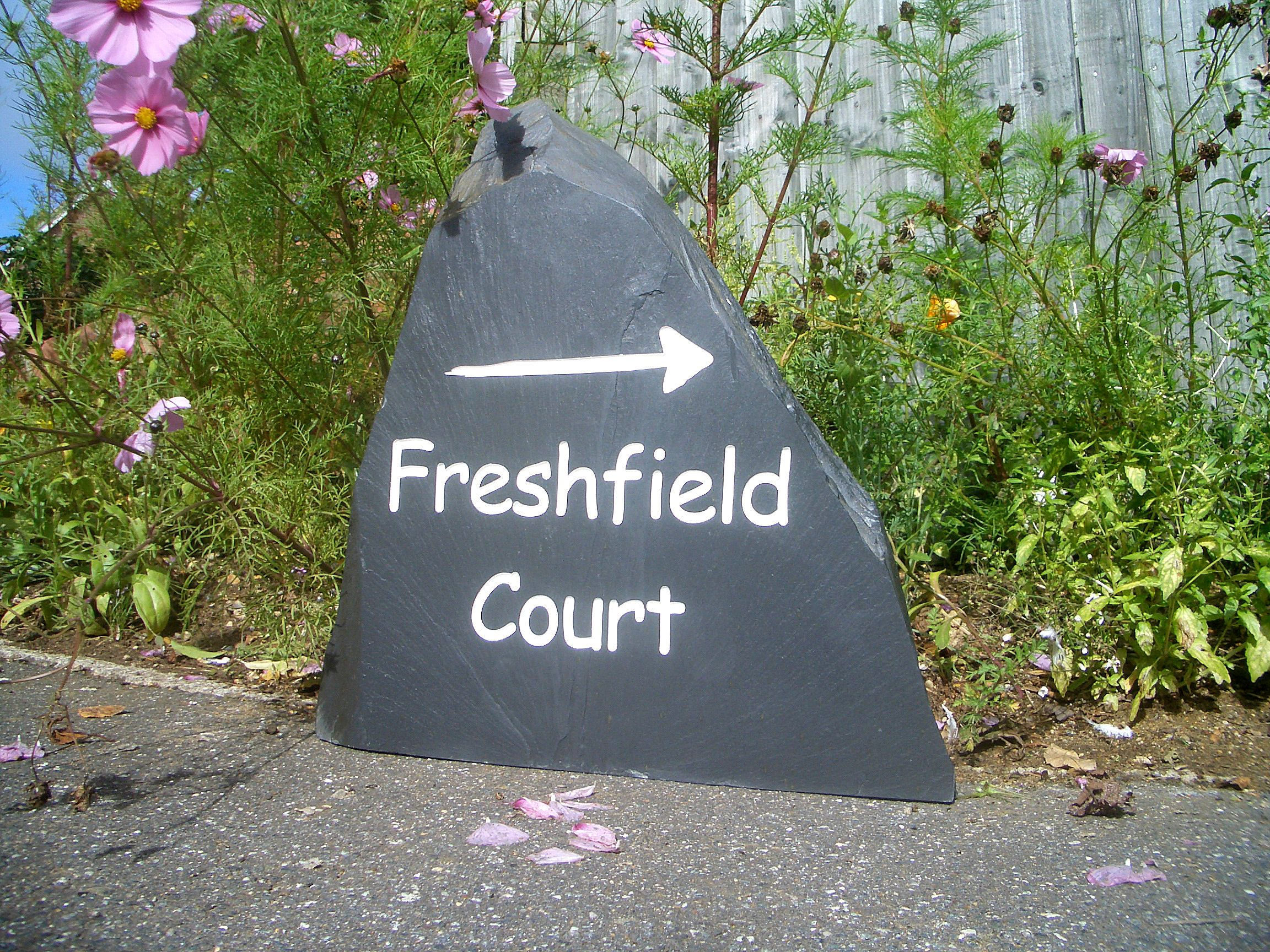 a freestanding rustic slate house sign | rustic stone | pinterest